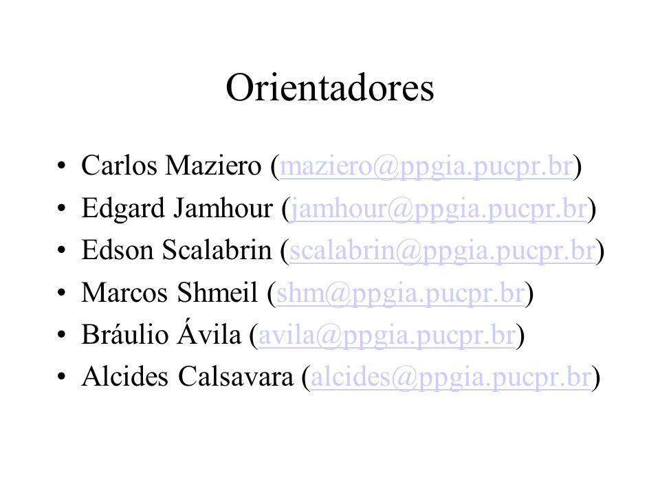 Orientadores Carlos Maziero (maziero@ppgia.pucpr.br)maziero@ppgia.pucpr.br Edgard Jamhour (jamhour@ppgia.pucpr.br)jamhour@ppgia.pucpr.br Edson Scalabr