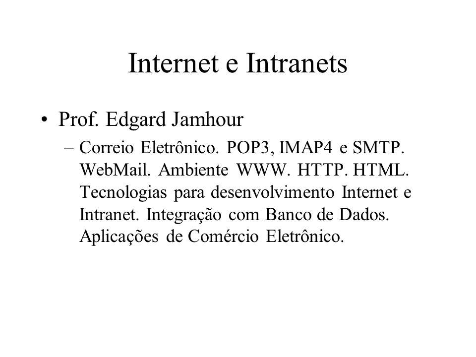 Internet e Intranets Prof.Edgard Jamhour –Correio Eletrônico.