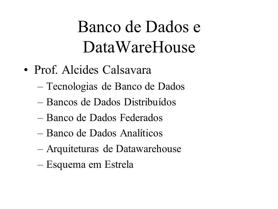 Banco de Dados e DataWareHouse Prof.