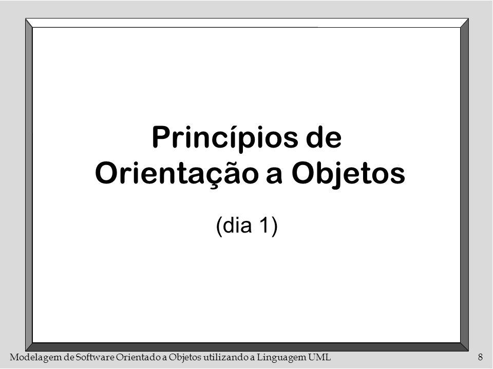 Modelagem de Software Orientado a Objetos utilizando a Linguagem UML8 Princípios de Orientação a Objetos (dia 1)