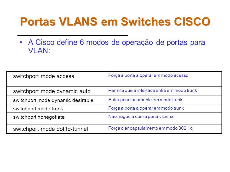 Aprimorando SPT É possível induzir o protocolo SPT a escolher portas e caminhos diferentes para cada conjunto de VLANs. Essa configuração é feita alte
