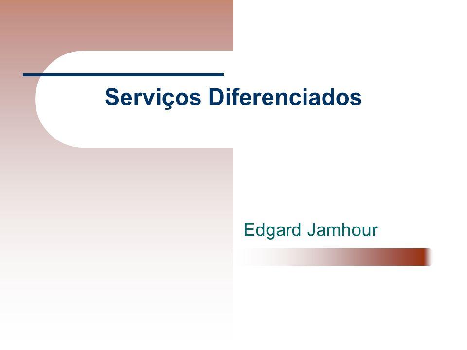 Gerenciamento de SLAs Os dispositivos da rede Diff-Serv (principalmente os de fronteira de DS), devem estar previamente configurados de acordo com os SLAs dos clientes do domínio.