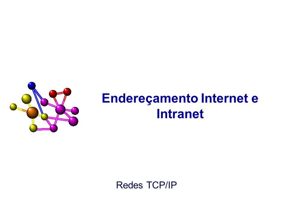 Endereços na Intranet: RFC 1918 REGRA: –A RFC 1918 recomenda que os roteadores em redes que não estiverem usando um espaço de endereço privado, especialmente aqueles provedores de serviço Internet, devem configurar seu roteadores para rejeitar a informação de roteamento sobre as redes privadas (Feb, 1996).