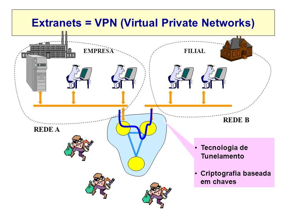 Relação entre as categorias e os termos Internet, Intranet e Extranet? Internet Intranet WWWeTCP/IP Extranet LAN (categoria 1) WANPública (categoria 3