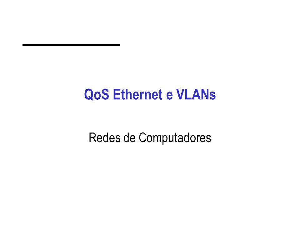 QoS Ethernet e VLANs Redes de Computadores