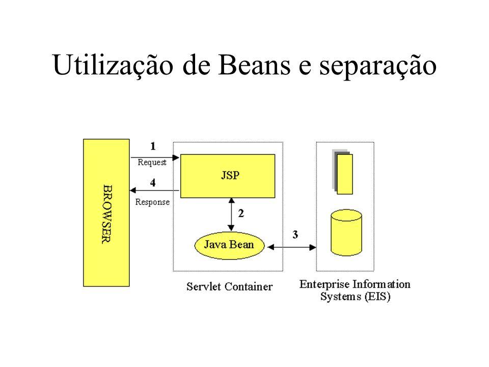 Utilização de Beans e separação