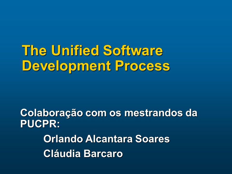 Unified Process: Ambiente Tecnológico O Unified Process é um processo O Unified Process é um processo orientado a tecnologia de objetos orientado a tecnologia de objetos baseado em componentes baseado em componentes componentes de software interconectados por uma interface bem definida componentes de software interconectados por uma interface bem definida em linguagem UML em linguagem UML