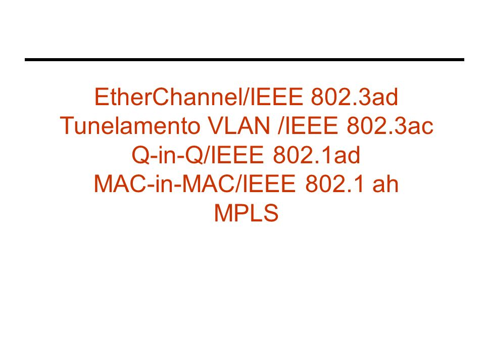 Princípio MinM Site X Site Y Service Provider Metro Ethernet network Ethernet Switches Enterprise Ethernet header User data SP Ethernet header Pacotes Ethernet Chegam da rede da empresa Ethernet UNI (source) O switch de borda acrescenta um novo cabeçalho (SP) com endereços MAC Ethernet UNI (destination) O pacote é encaminhado pela rede utilizando as informações do cabeçalho SP O switch de saída remove o cabeçalho SP