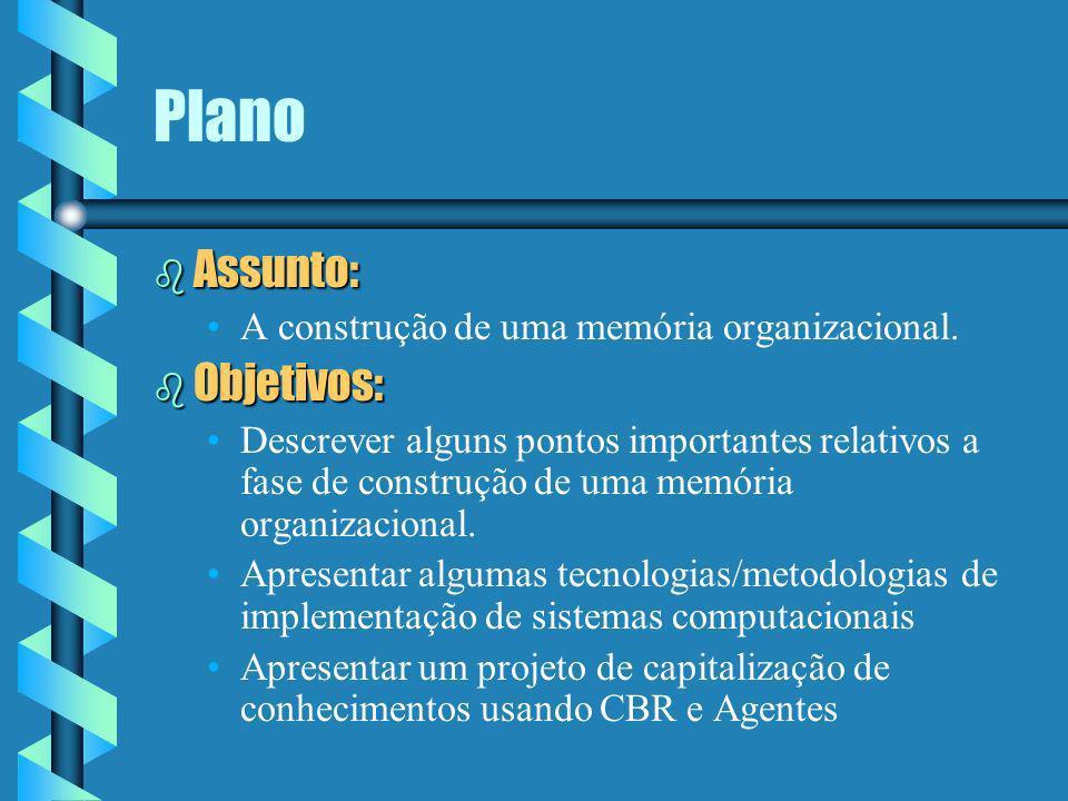 Elementos para a Construção de uma Memória Organizacional Edson Emílio Scalabrin telefone: 0xx41-330-1746 e-mail: scalabrin@ppgia.pucpr.br download: http://www.ppgia.pucpr.br/~scalabrin