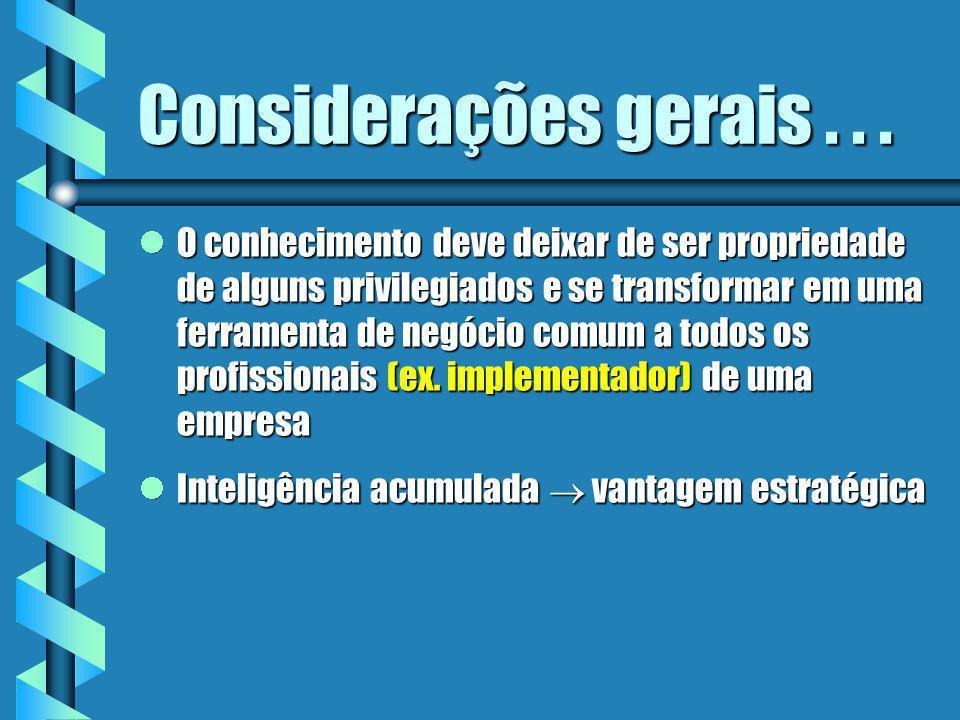 Considerações...