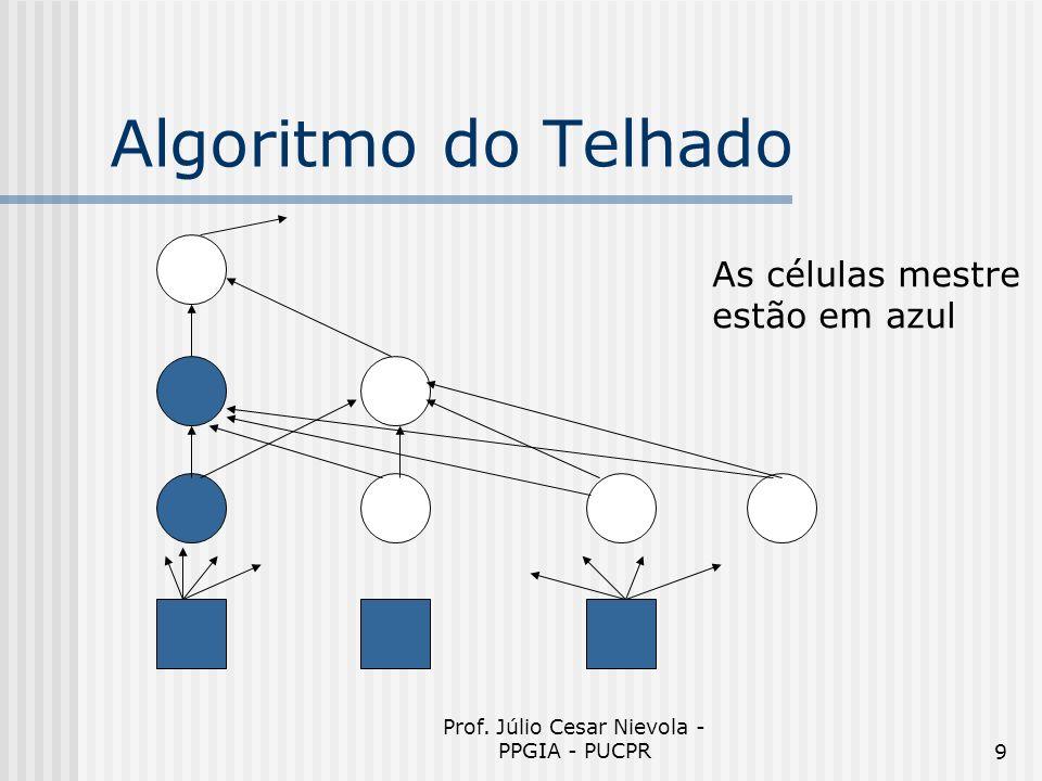 Prof. Júlio Cesar Nievola - PPGIA - PUCPR9 Algoritmo do Telhado As células mestre estão em azul