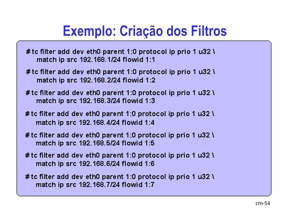 Exemplo: Criação dos Filtros