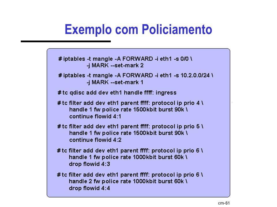 Exemplo com Policiamento