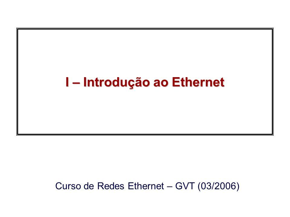 2006, Edgard JamhourRedes Ethernet GVT Auto-MDIX Auto-MDIX: Automatic Medium-Dependent Crossover switchhost Cabo paralelo (straight through) switch Cabo cruzado (crossovet) switch Cabo paralelo (straight through) roteador