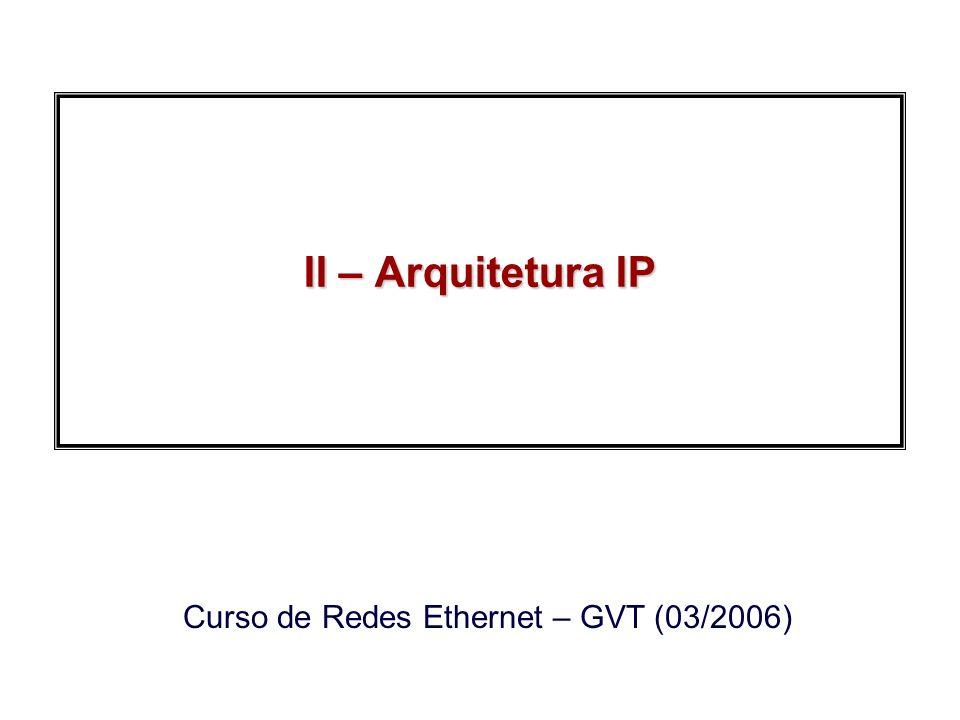 2006, Edgard JamhourRedes Ethernet GVT Comandos para VLANs Criação de VLANs –configure terminal –vlan 20 –name test20 –end Adição de portas as VLANs –