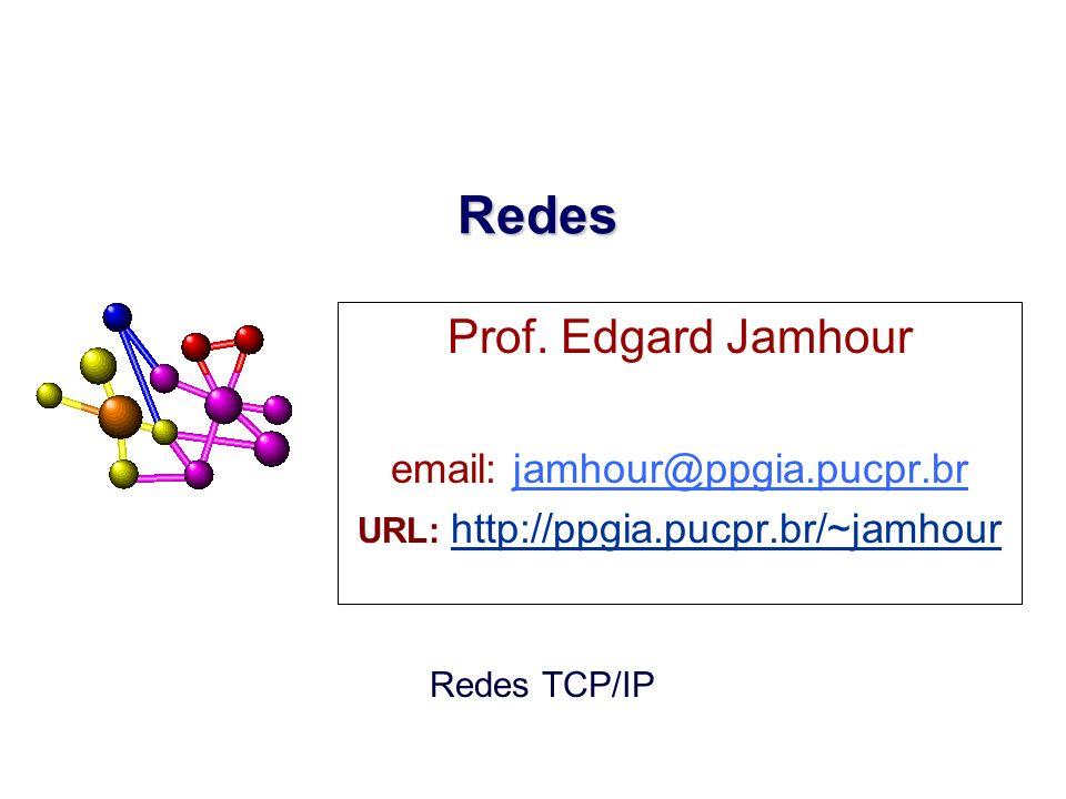 2007, Edgard Jamhour PORTAS Exemplo: Protocolo TCP/IP –Portas são números inteiros de 16 bits –Padronização do IANA (Internet Assigned Number Authority) 01023 102465535 PORTAS RESERVADAS PARA SERVIDORES PADRONIZADOS PORTAS UTILIZADAS POR CLIENTES E SERVIDORES NÃO PADRONIZADOS