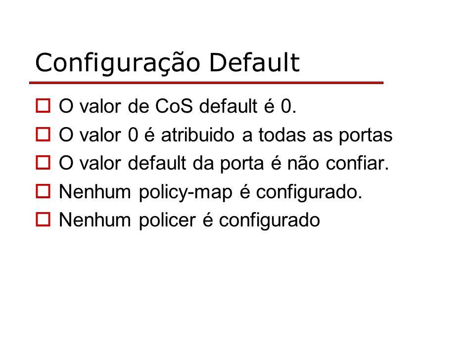 Configuração Default O valor de CoS default é 0.