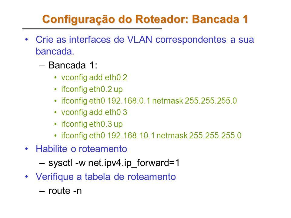 Configuração dos Computadores Os computadores A e B não precisam de VLAN.