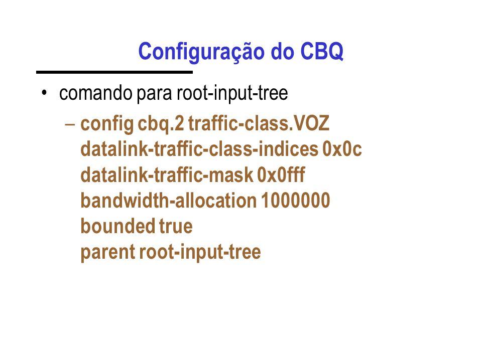 Configuração do CBQ comando para root-input-tree – config cbq.2 traffic-class.VOZ datalink-traffic-class-indices 0x0c datalink-traffic-mask 0x0fff ban