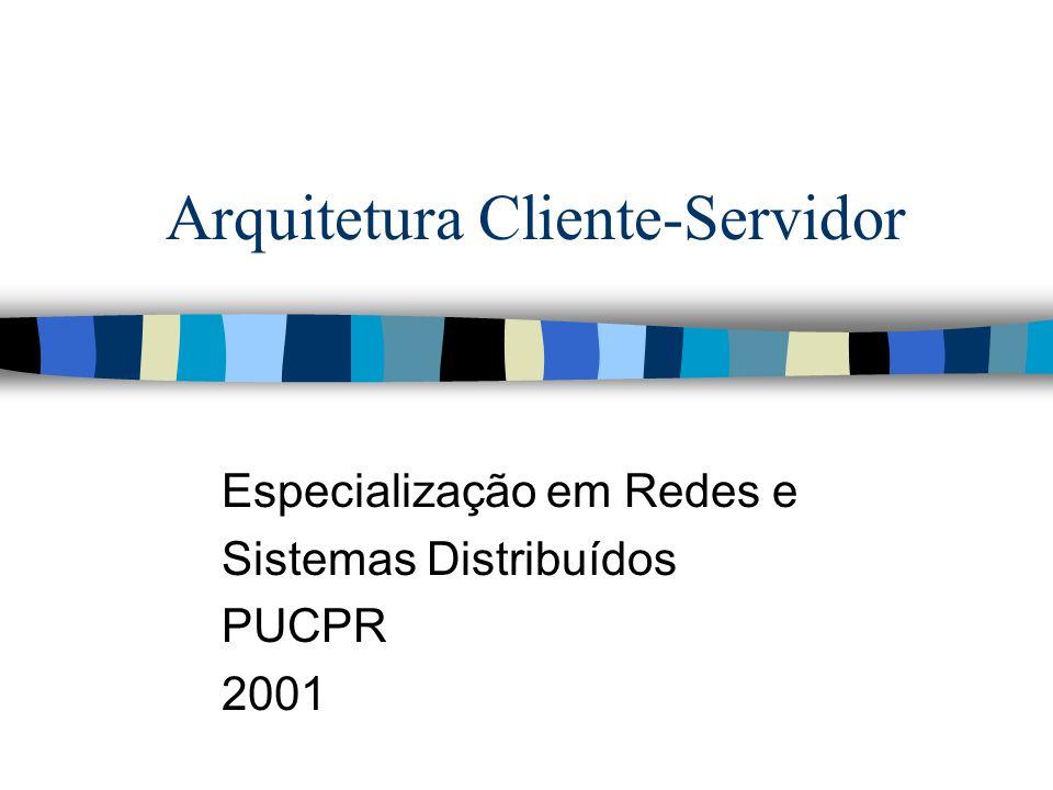 Arquitetura Cliente-Servidor Especialização em Redes e Sistemas Distribuídos PUCPR 2001