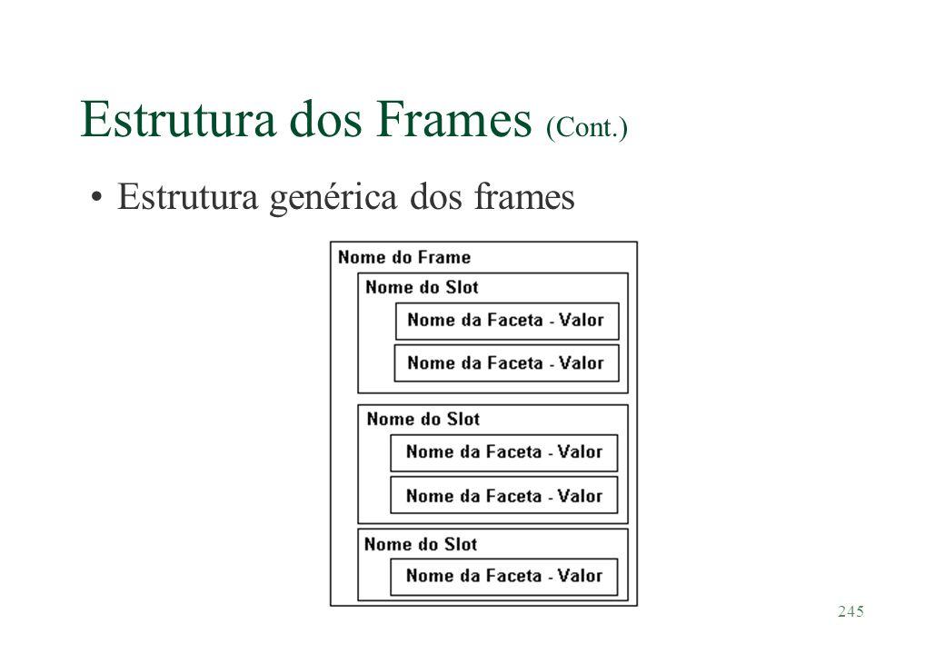 245 Estrutura dos Frames (Cont.) Estrutura genérica dos frames