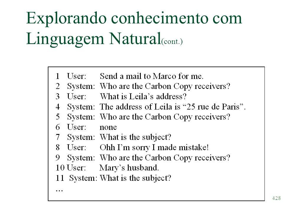 428 Explorando conhecimento com Linguagem Natural (cont.)