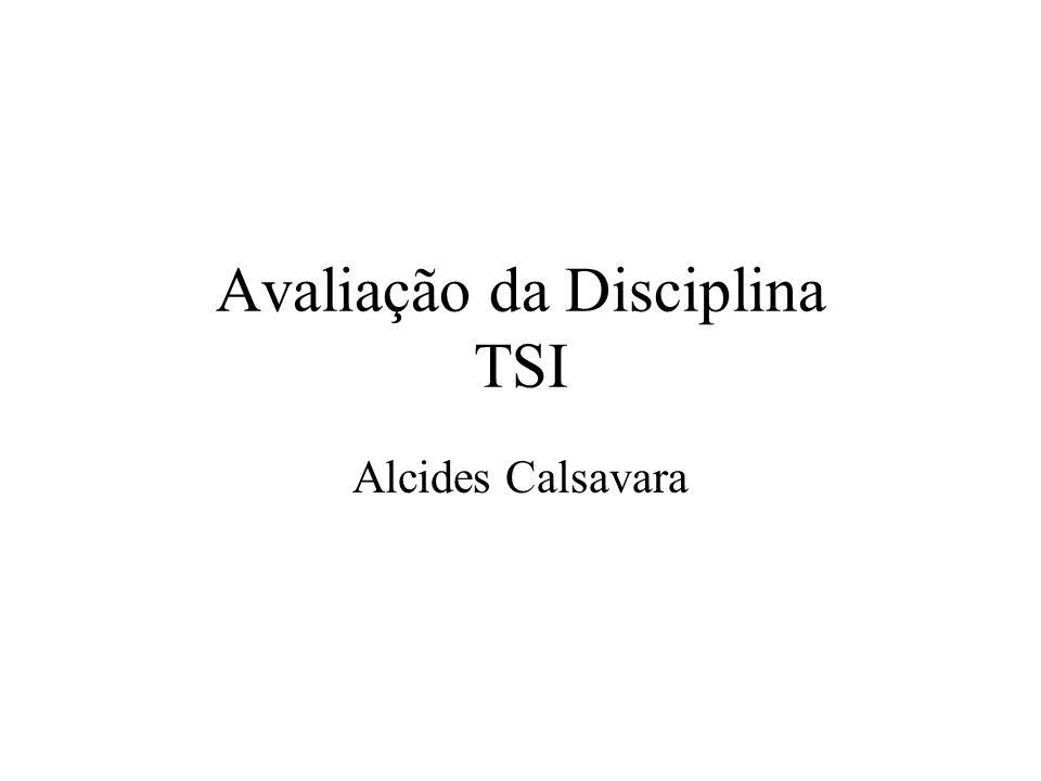Avaliação da Disciplina TSI Alcides Calsavara