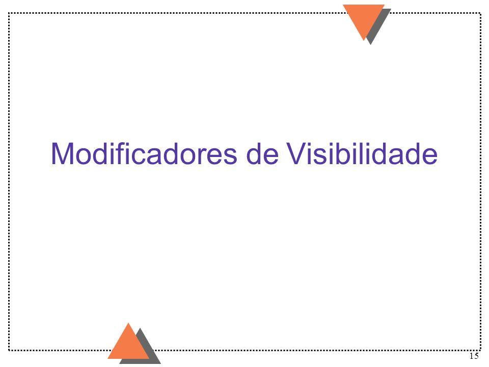 15 Modificadores de Visibilidade