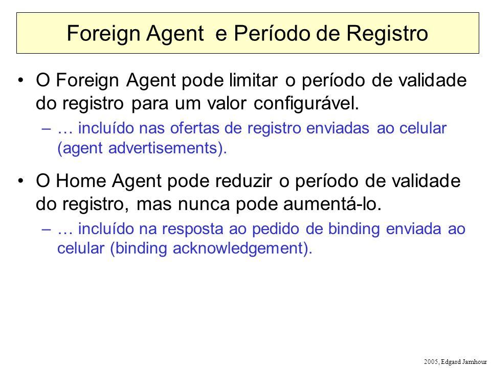 2005, Edgard Jamhour Foreign Agent e Período de Registro O Foreign Agent pode limitar o período de validade do registro para um valor configurável. –…