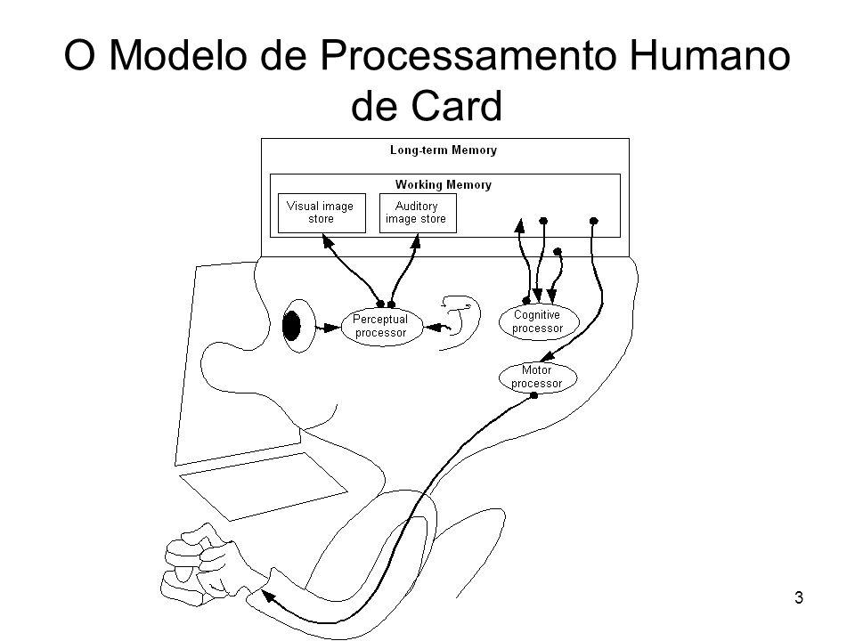 4 Memórias e Processadores no MPH de Card O MPH é baseado num conjunto de parâmetros que descrevem as memórias e os processadores.