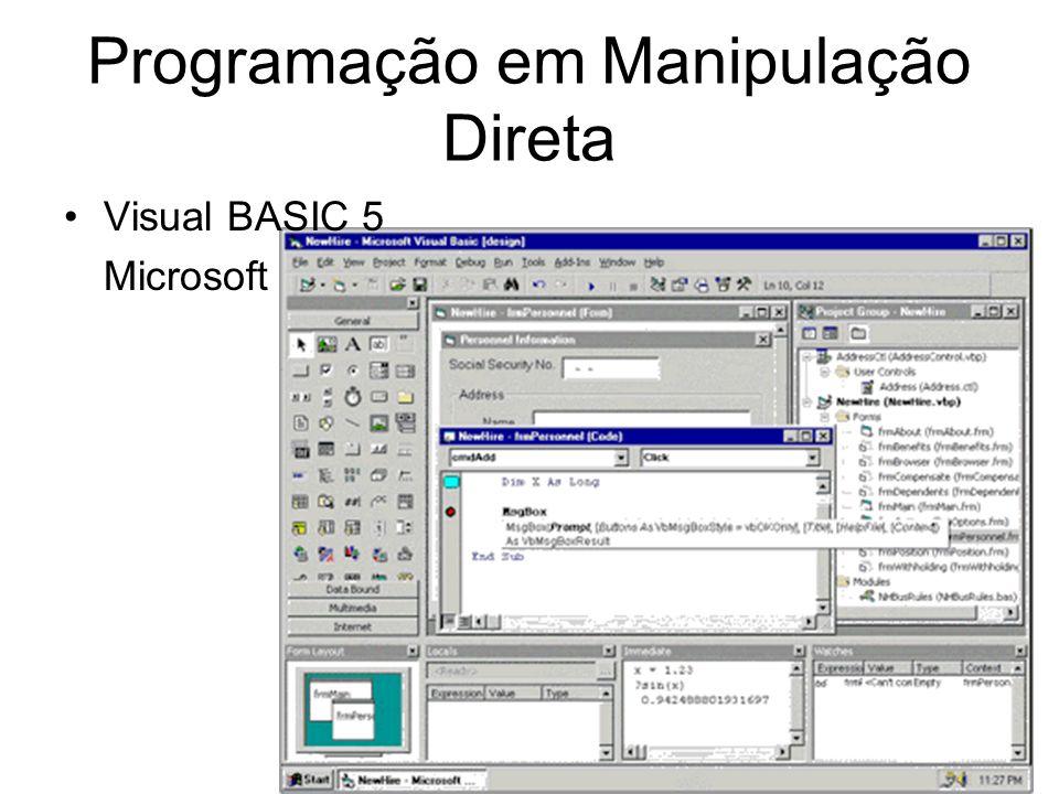 Programação em Manipulação Direta Visual BASIC 5 Microsoft