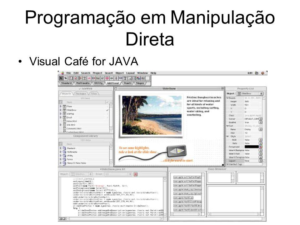 Programação em Manipulação Direta Visual Café for JAVA