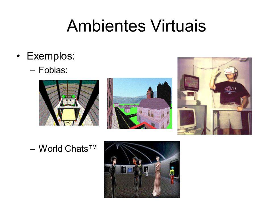 Ambientes Virtuais Exemplos: –Fobias: –World Chats