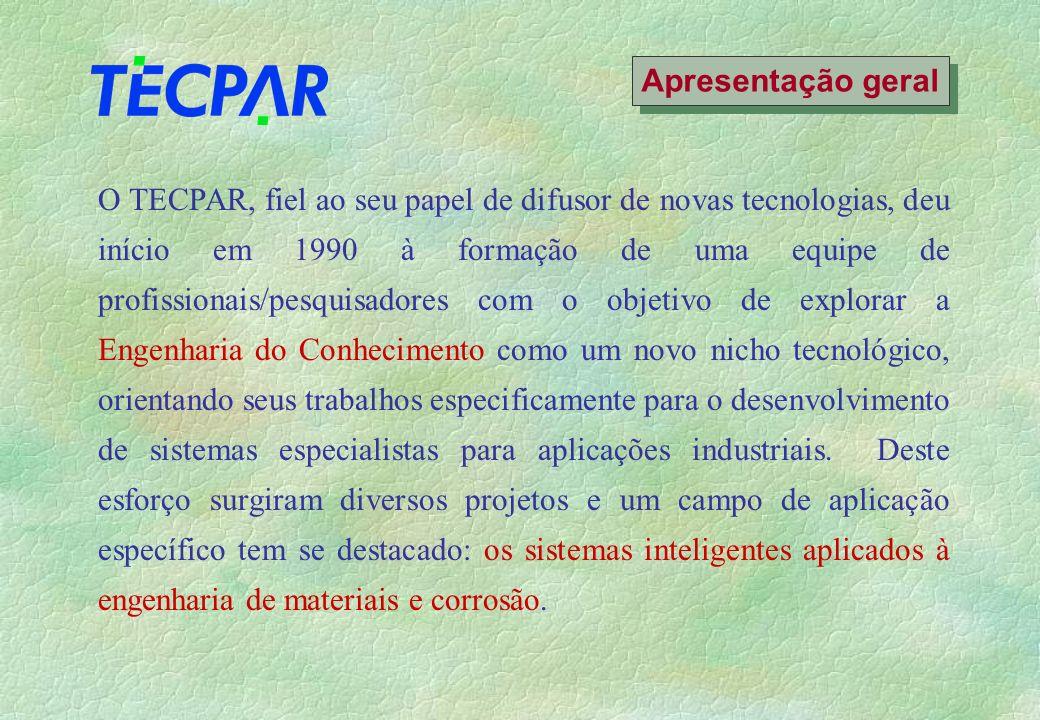 O TECPAR, fiel ao seu papel de difusor de novas tecnologias, deu início em 1990 à formação de uma equipe de profissionais/pesquisadores com o objetivo de explorar a Engenharia do Conhecimento como um novo nicho tecnológico, orientando seus trabalhos especificamente para o desenvolvimento de sistemas especialistas para aplicações industriais.