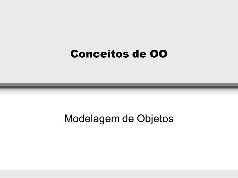 Ementa l Conceituação de OO l Método para modelagem OO Modelagem de Objetos Modelagem Dinâmica Modelagem Funcional l Programação OO
