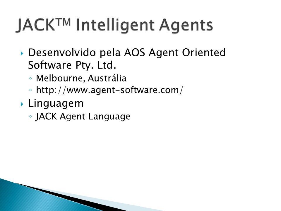 Desenvolvido pela AOS Agent Oriented Software Pty. Ltd. Melbourne, Austrália http://www.agent-software.com/ Linguagem JACK Agent Language