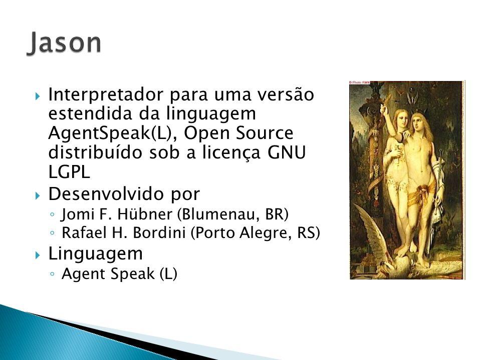 Interpretador para uma versão estendida da linguagem AgentSpeak(L), Open Source distribuído sob a licença GNU LGPL Desenvolvido por Jomi F. Hübner (Bl