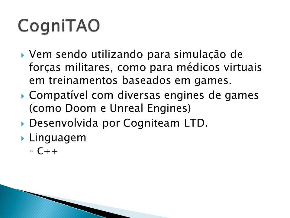 Vem sendo utilizando para simulação de forças militares, como para médicos virtuais em treinamentos baseados em games. Compatível com diversas engines