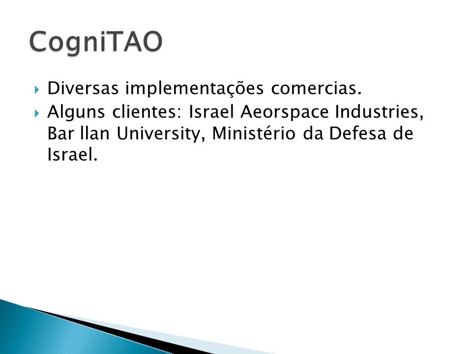 Diversas implementações comercias. Alguns clientes: Israel Aeorspace Industries, Bar llan University, Ministério da Defesa de Israel.
