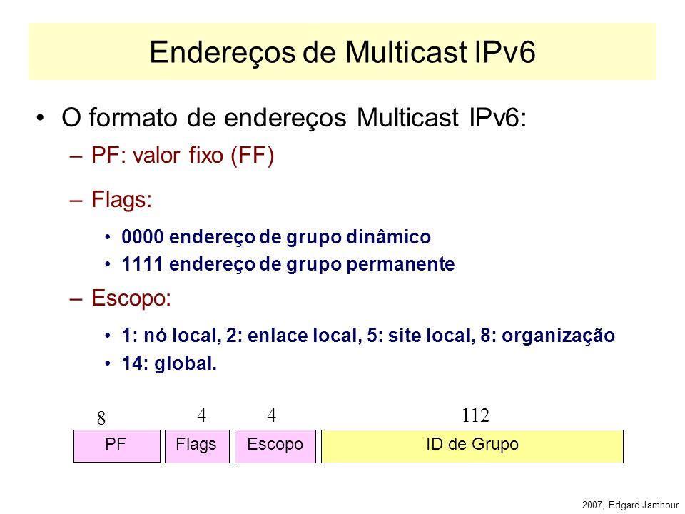 2007, Edgard Jamhour Backbone IPv6 6bone www.6bone.net Backbone experimental, Organizado pelo IETF.