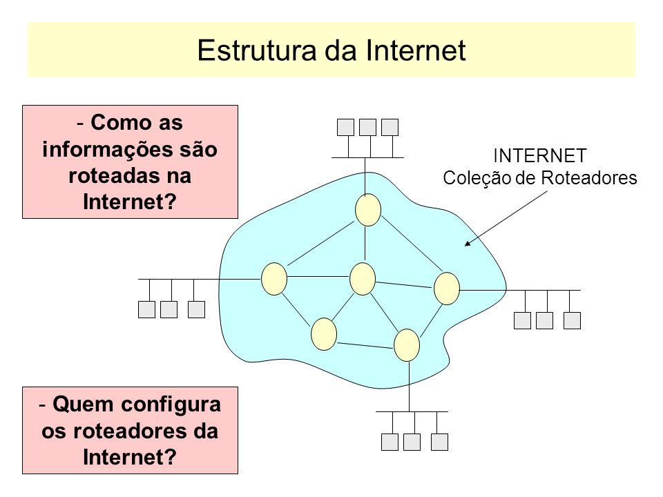 Mensagens OSPF Version (2)Tipo de MensagemTamanho da Mensagem Identificador de Roteador Byte 1 Byte 2Byte 3Byte 4 Identificador de Área Checksum da mensagem Dados de autenticação...