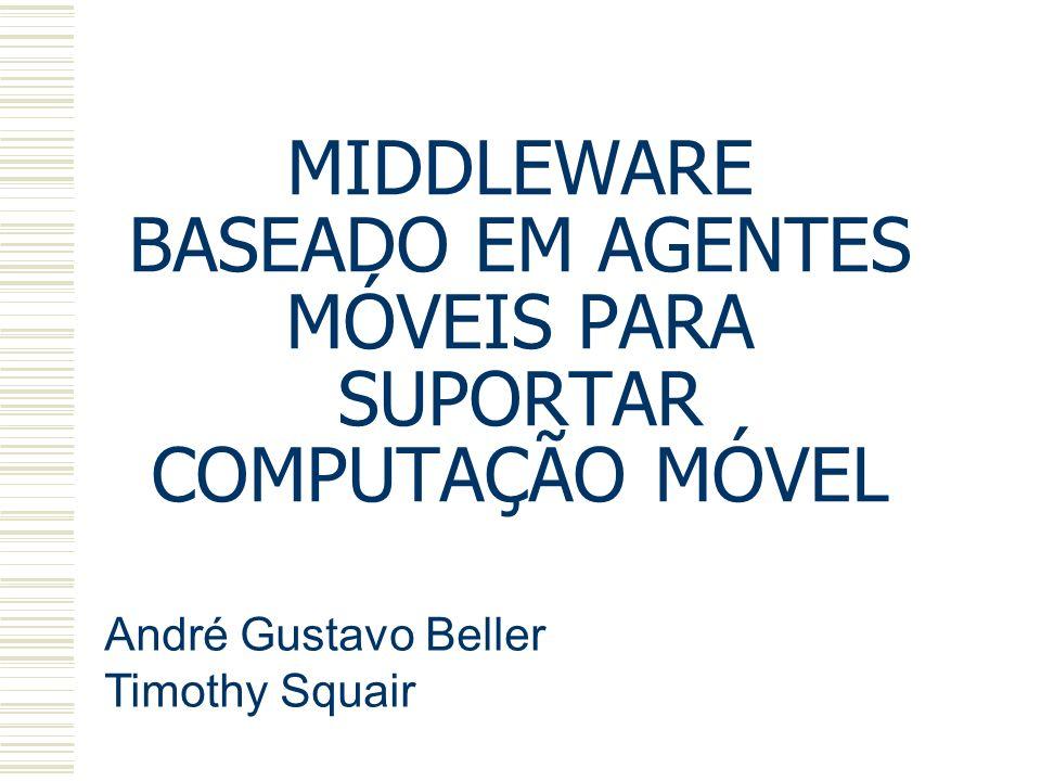 MIDDLEWARE BASEADO EM AGENTES MÓVEIS PARA SUPORTAR COMPUTAÇÃO MÓVEL André Gustavo Beller Timothy Squair
