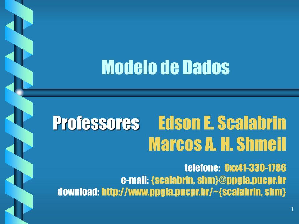 1 Modelo de Dados Professores Professores Edson E.