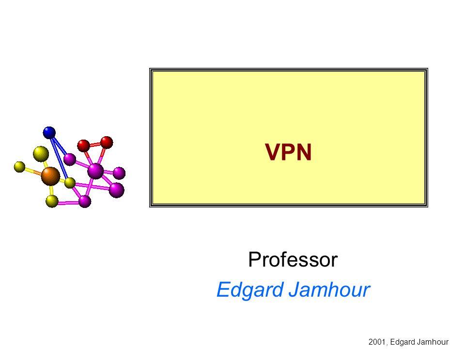 2003, Edgard Jamhour Exemplo de VPN com Firewall INTERNET 1723>1023 IP_Servidor_VPN FIREWALL: Liberar a porta TCP 1723 no IP = Servidor_VPN Liberar o protocolo PPTP (Protocol Type=2F) para o IP=Servidor_VPN