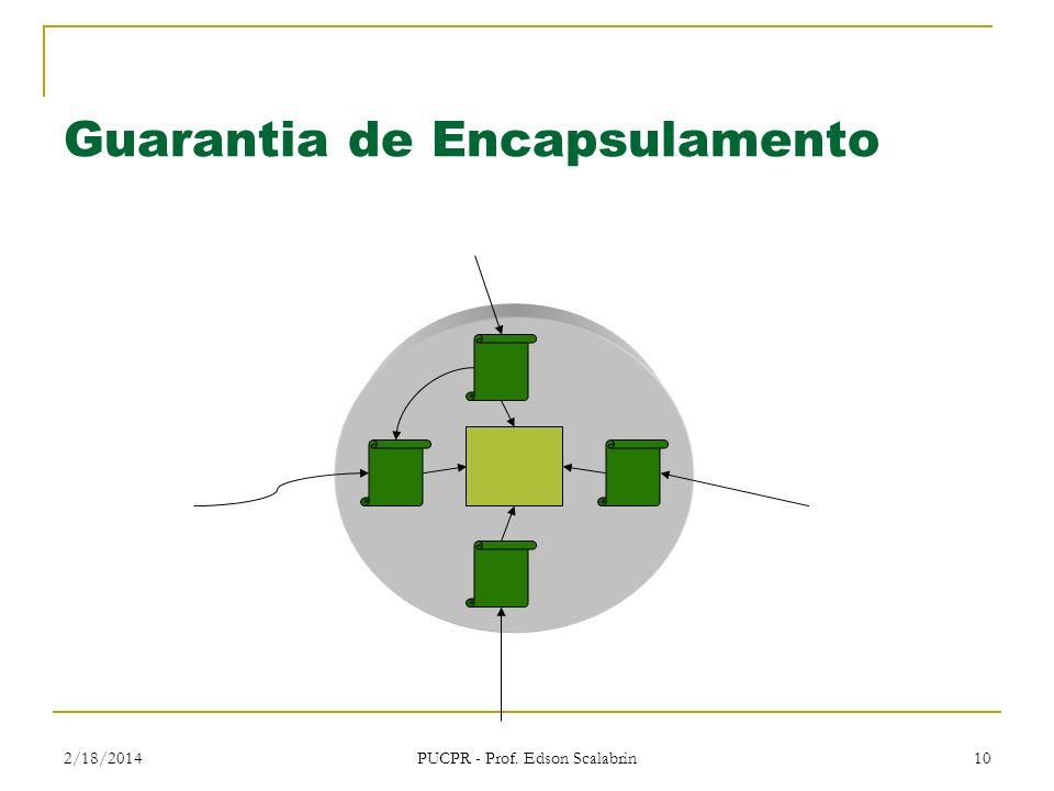 2/18/2014 PUCPR - Prof. Edson Scalabrin 10 Guarantia de Encapsulamento