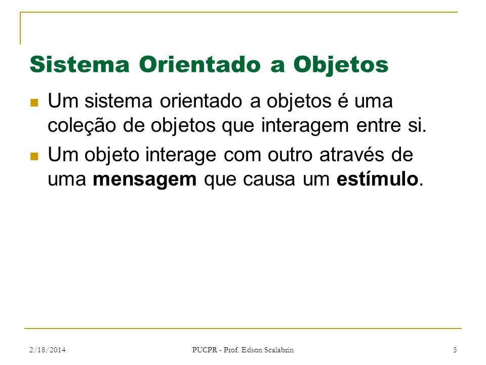 2/18/2014 PUCPR - Prof. Edson Scalabrin 6 Interação entre Objetos