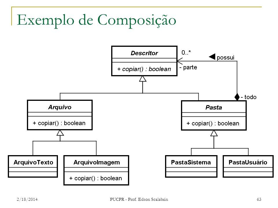 Exemplo de Composição 2/18/2014 PUCPR - Prof. Edson Scalabrin 63