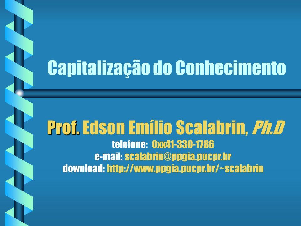 Capitalização do Conhecimento Prof.Prof.