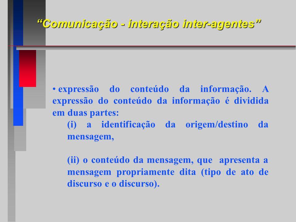expressão do conteúdo da informação. A expressão do conteúdo da informação é dividida em duas partes: (i) a identificação da origem/destino da mensage
