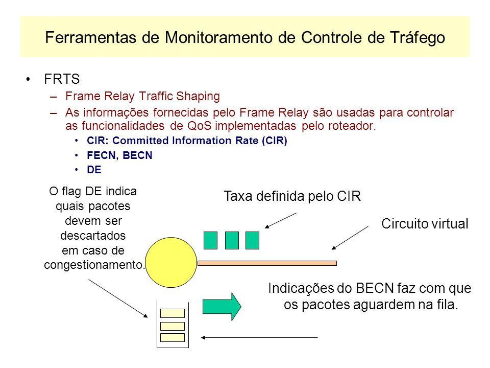 Ferramentas de Monitoramento de Controle de Tráfego GTS –Generic Traffic Shaping –Baseado no Token Bucket Approach –Reduz o tráfego de saída de uma in
